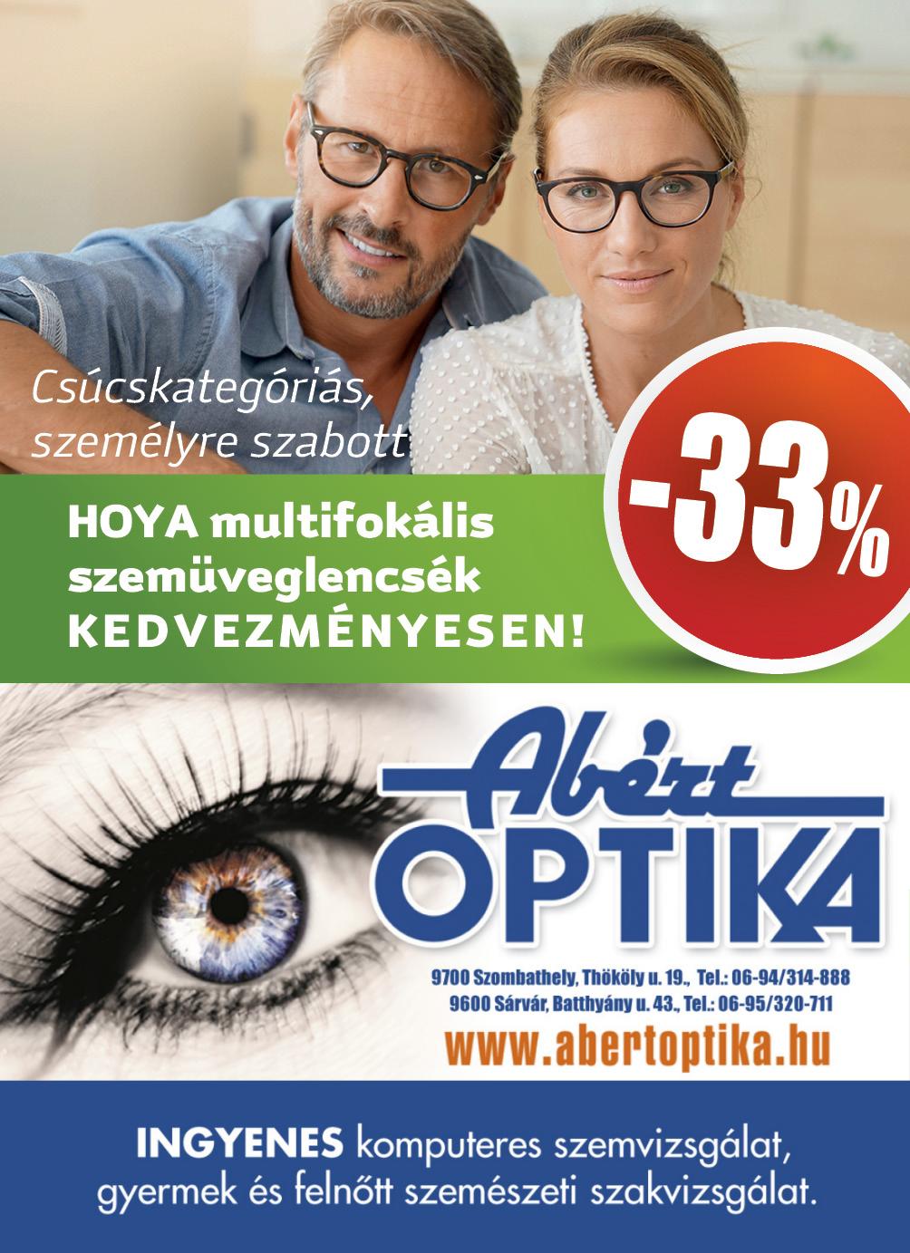 Hoya multifokális szemüveglencsék 33% kedvezménnyel 1bb1a31ca3