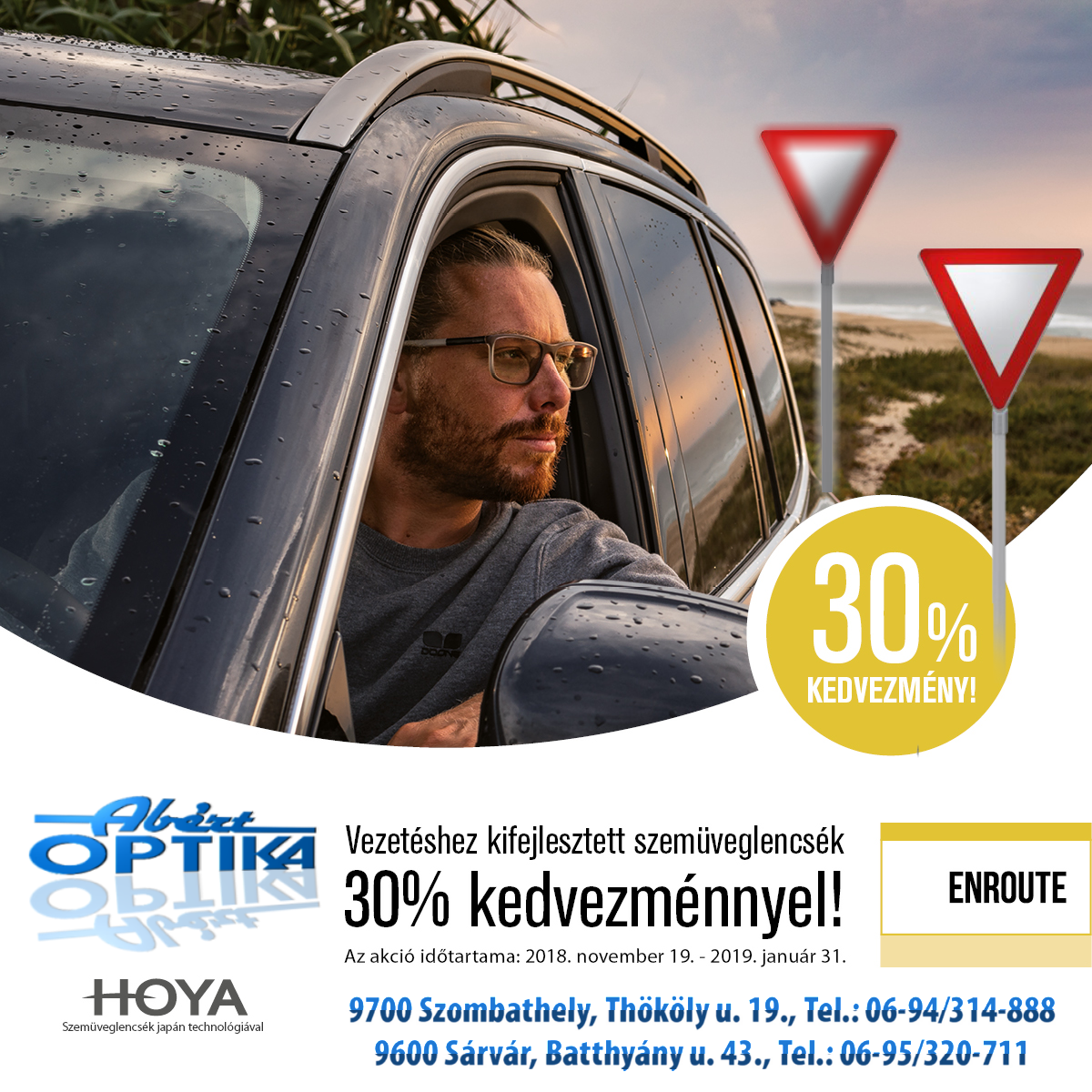 Vezetéshez kifejlesztett szemüveglencsék 30% kedvezménnyel! 5ccffa1e39